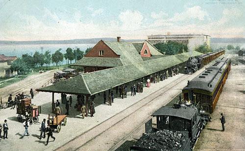 train station near walloon lake