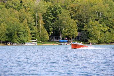 summer boating in walloon lake