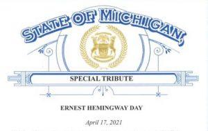 "April 17 Named ""Ernest Hemingway Day"" in Michigan"