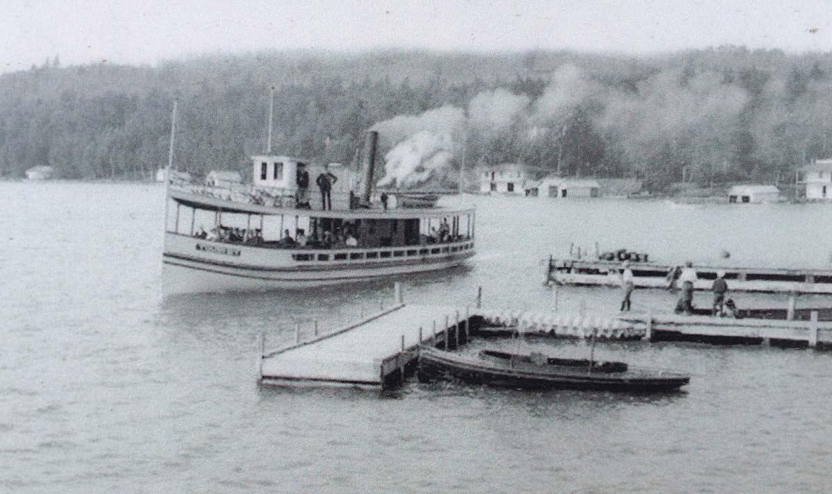 steamboats in walloon lake michigan